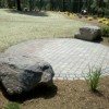 paver patio, rock work, hydroseed