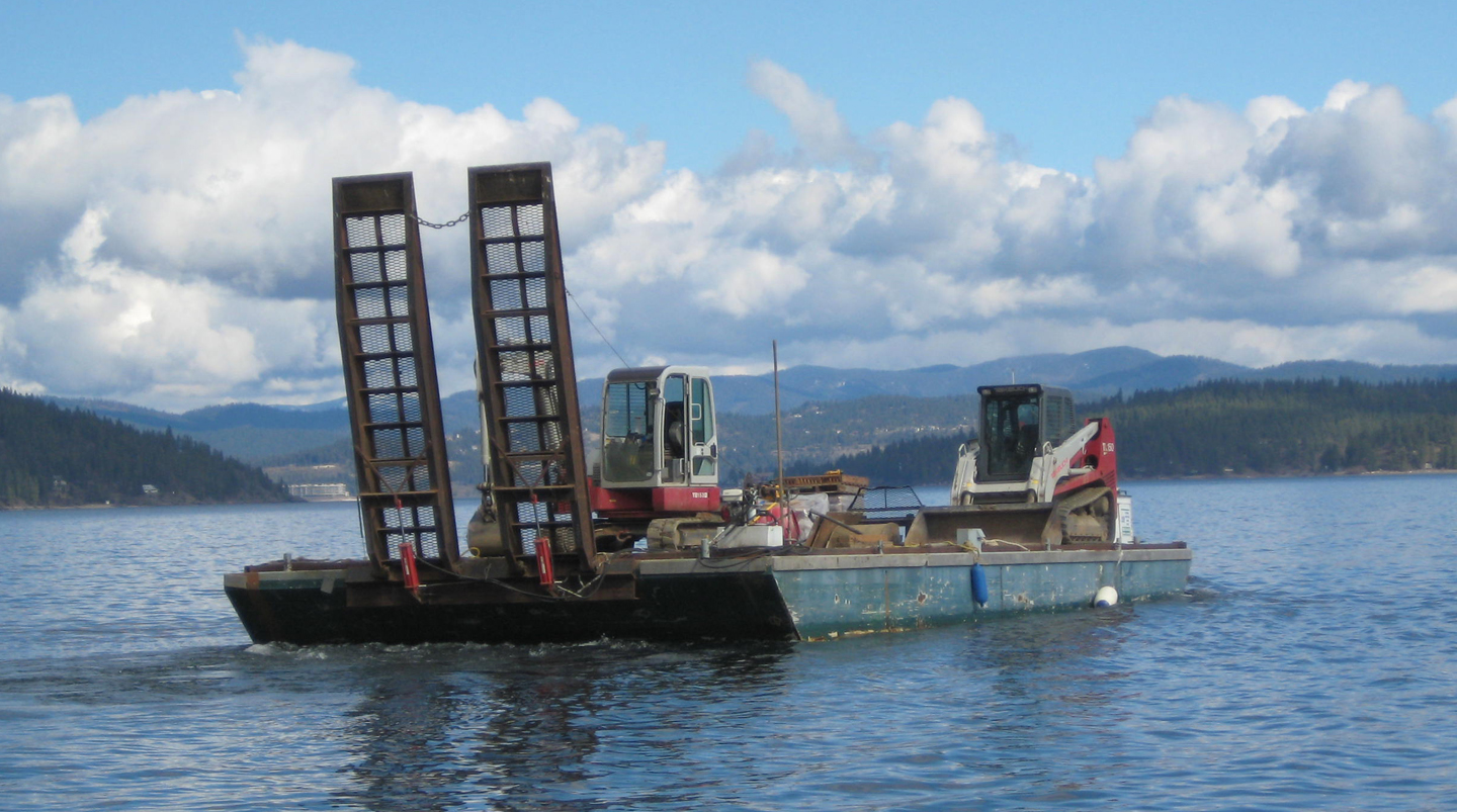 Landscape Equipment Barge
